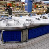 APEX custom make commercial restaurant stainless steel ice fresh tuna freezer fish display table ice case