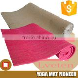 Special most popular the high density pvc with jute yoga mat,organic foam safety mats yoga