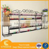 Guangzhou cosmetic nail polish wall shelving metal display rack