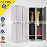 Two door Storage cabinet design assemble metal wardrobe bedroom furniture