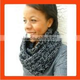 2014 Winter Newest Fashion Unisex Two Thread Weave Circle Loop Knitted Scarf