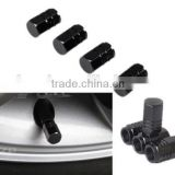 Black Wheel Tyre Tire Valve Stems Air Dust Cover Screw Caps Car Truck Bike