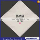 Two colour printed paper napkin with your own design                                                                         Quality Choice