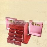 2015 traditional wooden box for jewelry with mirror for household furniture, 4drawer jewellery box,Vintage Style wooden jewelry