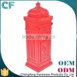 The Most Popular Style In Europe Die Casting Aluminiun Standing Garden Antique Post Box From China