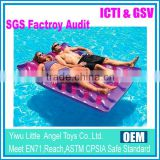 EN71 6P PVC water beach inflatable self inflatable camping mattress