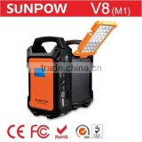 sunpow 36000mah portable power bank station CE ROHS Certification Multi-Function 24v and 12v jump starter with Air compressor