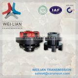 Flexible shaft motor flange couplings for sticker printing machine.