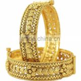 INDIAN TRADITIONAL GOLD PLATING OPENABLE BANGLE KADA BRACELET JEWELLERY