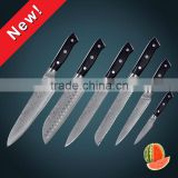 67 layers Japanese VG10 Damascus stainless steel kitchen knife set with black pakka wood handle