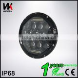 "High Quality 75W Led Headlight 12v 7"" LED Driving Light for Jeep Wrangler jk Vehicle for Car and Motorcycle Accessories"
