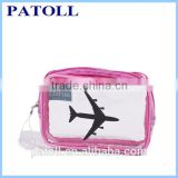 Wholesale Clear PVC bag/ PVC Cosmetic travel bag /transparent PVC travel cosmetic bag pvc