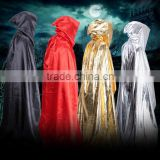Halloween gold silver wizard cloak Mop the floor cloak of a god of death Adult cloak castle cloak Bright cloth cloak