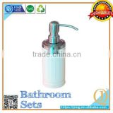 stainless steel lid with pump bathroom foaming clear liquid soap dispenser