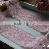 Flower Pattern Elastic Lace Trimings For Garment,Decorative Lace Trims In Stock