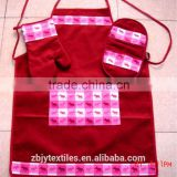 kitchen pot holder, oven mitten, apron set-26