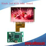 5inch 800*480 lcd display with hdmi controller board