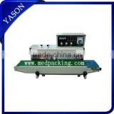 Continuous Plastic Bag Sealing Machine ,black Colored words printed FR-1000(Sealing Width:6-12MM)
