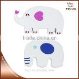 sets of white elephants wooden craft 6pcs for children handcraft