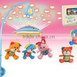 Baby Funny Projector Light Musical Bed Bell with Stuffed & Plush Animal Toys