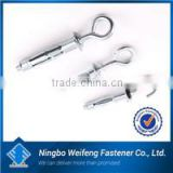 Ningbo hardware fastener supply sleeve anchor with hook bolt with nut zinc plated China manufacturers&importers