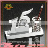 Fashion desktop 15 Years clock pen holder with magnet