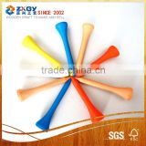 Bulk packing custom enviroment golf wooden tee with factory price