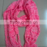 Fashion Bright Muticolor Soft Acrylic Chunky Knitting Winter Scarf