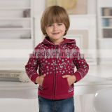 DB369 red davebella 2014 spring/autumn new arrival flour printed baby coat babi outwear baby clothes
