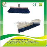 Wooden Handle Floor Brush with Blue PP Bristle