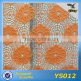 fashion bangkok lace fabric leaves pattern 3d flower lace embroidered fabric