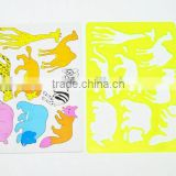 Cute animal shaped stencil fresh color kids template for drawing stencil set                                                                         Quality Choice