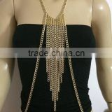 Charming sexy tassels body chain,shoulder /belt chain, swimdress bikini body shoulder chain jewelry
