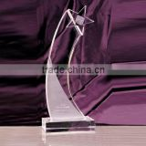 Wholesale customized blank glass star awards, crystal star plaque for business gift