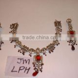 Designer Exclusive Indian Costume Fashion Imitation Jewellery ~ Artificial Gold Kundan Polki Bridal Jewelery ~Gemstones Necklace