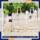 Luxury packaging white clear color empty cosmetic sets fragrance scent dispenser spray glass bottle                                                                                                         Supplier's Choice
