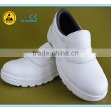EN ISO 20345:2011 white microfiber leather upper PU outsole steel toe cap electric insulation safety shoes
