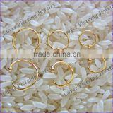 Fashion Anneal Design Gold Anodized Stainless Steel Captive Bead Ring Piercing Jewelry [AR-003A]