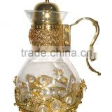 2016 decorative glass water jug with crystal decoration