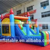 Colorful design bouncer castle with slide,inflatable jumping house,inflatable bouncer malaysia