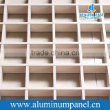 Grill type metal frame suspended ceiling