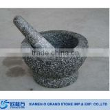 Kitchen Tool Natural Stone Granite Mortar and Pestle                                                                         Quality Choice