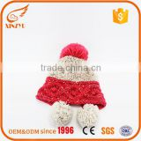 Promotions cheap beanie hats custom winter pom pom knit hat                                                                         Quality Choice