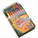 24-Color Mini Twistable Crayons Set