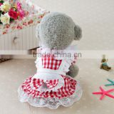 cute sweet pink red cosplay costume lace maid dress bubble skirt cat dog pet wear pet apparel