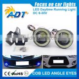 Car SUV Angel Eye COB Blue Halo Ring LED DRL Projector Lens Fog Driving Light