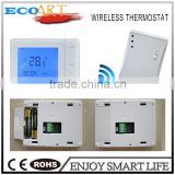 Heating weekly programmable digital wireless room thermostat