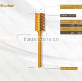 gold and silver color best quality professional Electric Nail File acrylic carbide nail drill bits