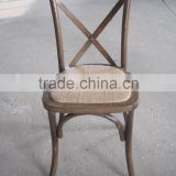 cheap solid wood cross back chair for event