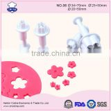 Cake Fondant Biscuit Cookie Cutter 34/25/21/20mm Blossom flower Decorate Tool Plunger cutter